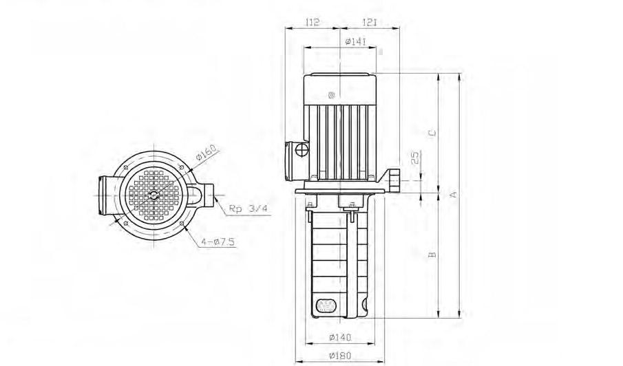 stairs high pressure immersible pump cbk4 5 walrus    grundfos