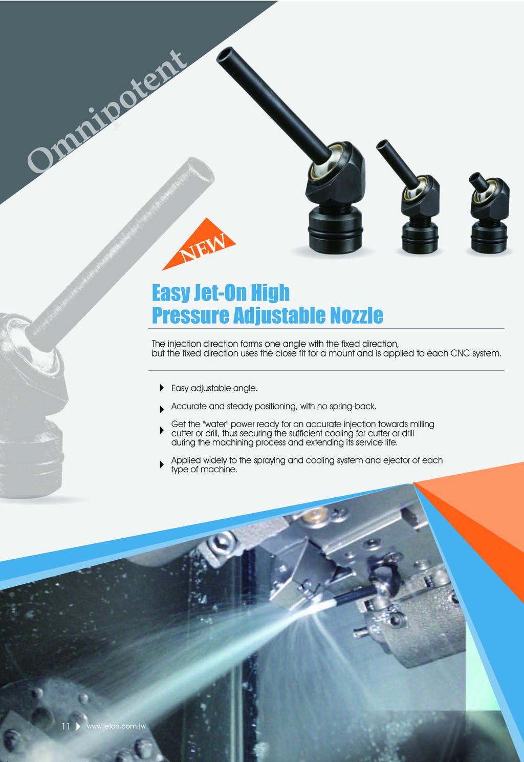 JETON Inclined-Injection High Pressure Adjustable Nozzle JTAM-10-50