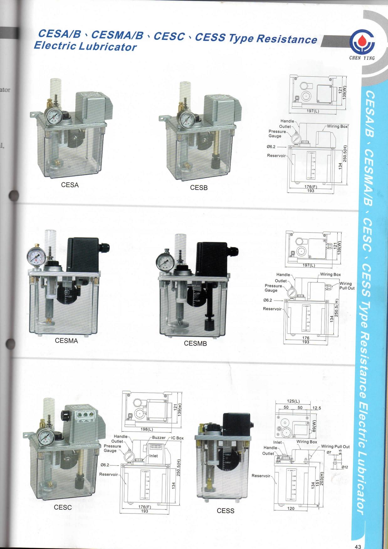 CESMA10C 220V Type Resistance Electric Lubricator Bijur 2L