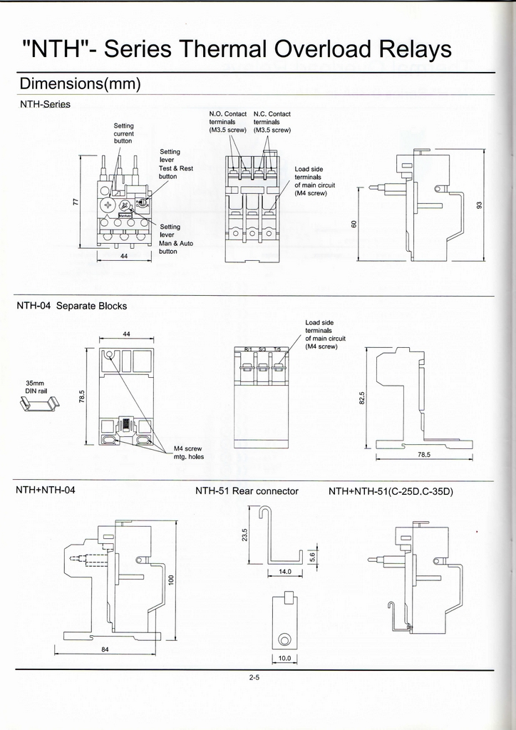 nhd pole nth thermal overload relay a please specify what voltage you need when ordering